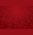 abstract red square tile background vector image