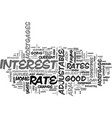 adjustable rate mortgages buyer beware text word vector image vector image