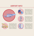 airport info transportation service vector image