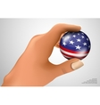 american flag with ball vector image vector image