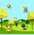 animals on landscape vector image