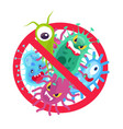 antibacterial symbol virus infection and microbes vector image