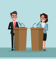 background scene presidential candidate speaks to vector image vector image