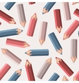 Background with colored pencils vector image vector image