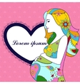 Background with pregnant woman vector image