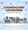 banner design chandigarh lockdown vector image