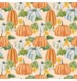 beautiful autumn seamless pattern with vector image vector image