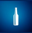 beer bottle icon isolated on blue background vector image