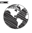 Black World map and compass vector image vector image