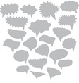 Blank Empty gray Speech bubbles set on white vector image vector image