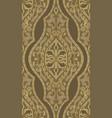 brown oriental pattern vector image