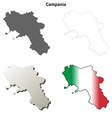 Campania blank detailed outline map set vector image vector image