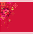 christmas red classic background vector image vector image