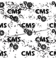 CMS settings pattern grunge monochrome vector image vector image