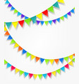 color flag strings on white background vector image vector image