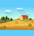 colorful of farmhouse in vector image vector image