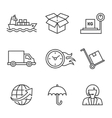 concepts of delivery shipping vector image