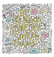 doodle with inspiration in design vector image