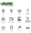 Ecology line icons vector image