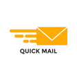 fast mail graphic icon design template vector image vector image