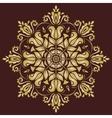 Floral Pattern Orient Golden Ornament vector image