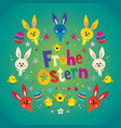 frohe ostern happy easter in german vector image vector image