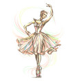 graceful beautiful dancing ballerina vector image
