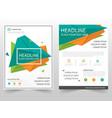 green orange triangle geometric leaflet brochure vector image vector image
