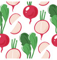 grunge seamless pattern with radish vertical vector image vector image