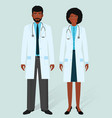hospital staff concept man and woman african vector image vector image