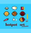 hot-pot set vector image vector image