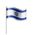 israel flag on a white vector image