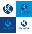 k letter icon and logo vector image