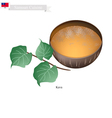 Kava Drink or Traditional Samoan Herbal Beverage vector image vector image