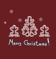 lace christmas trees cards vector image vector image
