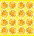 lemon orange fruit pattern yellow vector image vector image
