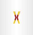 letter x symbol logotype element vector image