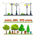 light posts and outdoor elements vector image