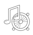 listening to music line icon vector image vector image