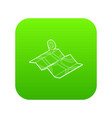 map icon green vector image