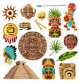mayan traditional cartoon set vector image