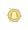 media network social snapchat icon design vector image