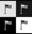 national flag usa on flagpole icon isolated on vector image vector image