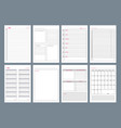 organizer pages office agenda weekly template vector image