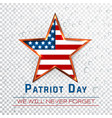 patriot day 911 digital sign with star onthe vector image