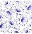 petunia flower seamless pattern petunia flowers vector image vector image