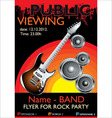 public banner rock party vector image vector image