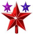 Red stars and other of different color vector image vector image