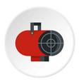 retro iron central heating battery icon circle vector image vector image
