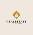 rohouse real estate logo template vector image vector image